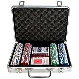 Weible Spiele 04740 - Maletín con fichas de póquer (200 unidades) [Importado de Alemania] , color/modelo surtido
