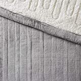 Woolrich Heated Plush to Berber Blanket Grey King