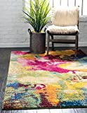 Unique Loom Estrella Collection Colorful Abstract Multi Area Rug (5' 0 x 8' 0)
