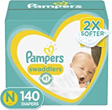 Diapers Newborn/Size 0 (< 10 lb), 140 Count – Pampers Swaddlers Disposable Baby..