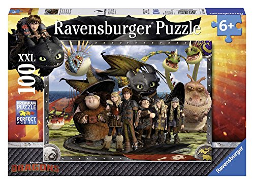 Ravensburger Italy- Dragons Puzzle 100 Pezzi, Multicolore, 10549