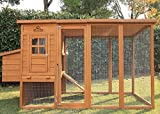 Pets Imperial Arlington Chicken Coop with Extra Long Run 8ft/2.5m and Ashpalt Roof Suitable for 4/6 Birds Depending On Size