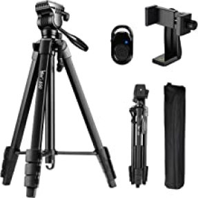 Tripod, 60-Inch Camera Tripod Stand Aluminum for Photography Canon Nikon Sony with Fluid Head & Carry Bag, Lusweimi Video ...