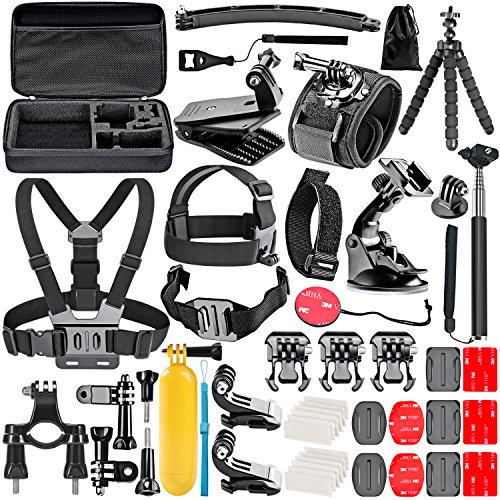 Neewer 50-In-1 Kit di Accessori per Action Camera Compatibile con GoPro Hero 8 Max 7 6 5 4 Black...