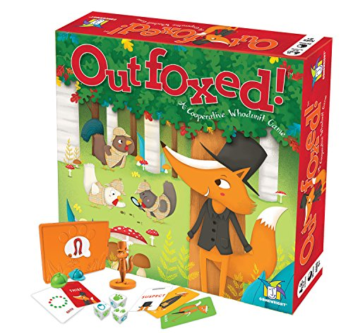 Gamewright Outfoxed! A Cooperative Whodunit Board Game for Kids 5+, Multi-c...
