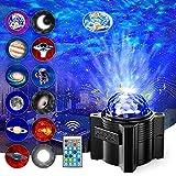Projecteur Ciel Etoile, Gvoo Projecteur LED Veilleuse Enfant Rechargeable avec 12 Lentilles Différentes, Lampe Projecteur Luminosité Réglable Bluetooth 15...