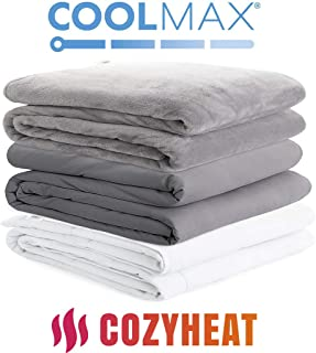 Degrees of Comfort Cooling Weighted Blanket with Cover 2 Duvet for Cold and Hot Sleepers..