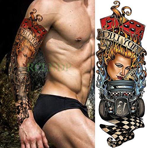 tzxdbh 5PCs-Body Art Braccio Spalla Petto Tatuaggio Tatuaggio Nero Uomo Donna Body Sticker...