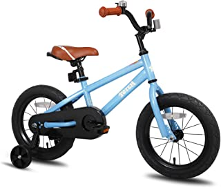 JOYSTAR Kids Bike with Training Wheels for 12 14 16 inch Bike Kickstand for 18 inch Bike (Blue Beige Red Orange Pink Green)