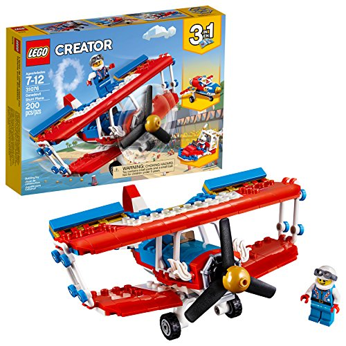LEGO Creator 3in1 Daredevil Stunt Plane 31076 Building Kit (200 Piece)