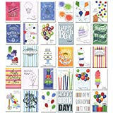 Birthday Cards Assorted 30 Different Designs w/Greetings Inside Made in USA 32 Envelopes