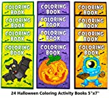 Neliblu Halloween Character Fun Coloring Activity Books Halloween Treats for Treat or Treaters, Halloween Party Supplies Non Candy Halloween Treat Alternative (Pack of 24)