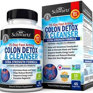 Colon Cleanser & Detox for Weight Loss. 15 Day Extra Strength Detox Cleanse with Probiotic for Constipation Relief. Pure Colon Detox Pills for Men & Women. Flush Toxins, Boost Energy. Safe & Effective 12 - My Weight Loss Today