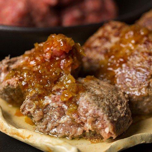 The Oniku そのまんま肉バーグ 180g×3個入 計540g 冷凍 牛肉 ハンバーグステーキ オニオンソース付 お取り...