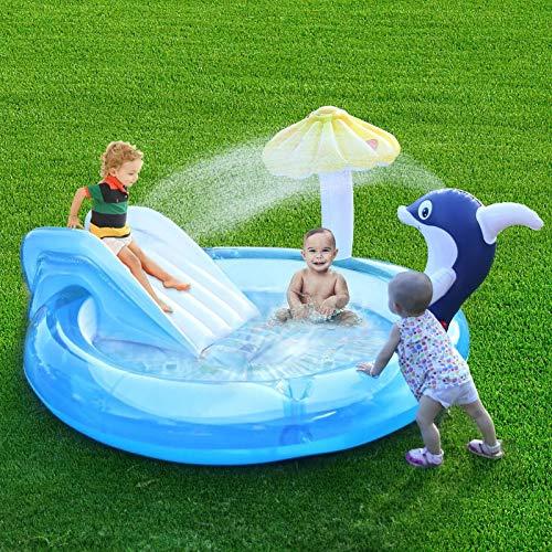 Huaxingda Piscina, Children's Inflatable Swimming Pool Outdoor Baby Pool Engrosada Piscina Inflable Familia Patio Trasero Verano Centro De Juego De Agua para 1-4 Adultos Niños Niños