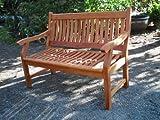 SEDEX Gartenbank New Jersey, 2-Sitzer, Holzbank aus Hartholz Eukalyptusholz FSC 120cm - 2