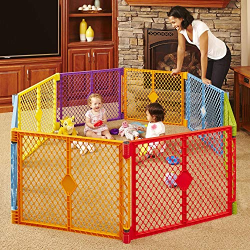Toddleroo by North States Superyard Colorplay 8 Panel Baby Play Yard:...