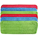 6 Pieces Microfiber Cleaning Pads Reveal Mop 16 to 18 inch Fit for Most Spray Mops and Reveal Mops Washable (Multicolor, 16.5 x 5.5 inch)
