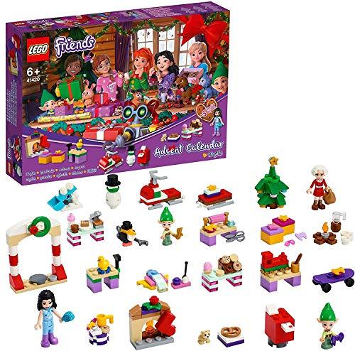 LEGO Friends Calendario dell'Avvento 2020, Mini Set di Costruzioni Natalizie con Emma, Elfi e Laboratorio di Babbo Natale, 41420