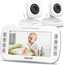 "Video Baby Monitor 4.3"" Screen, Two Cameras for Two Rooms, Auto Night Vision, Long.."