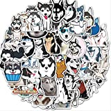 Animales de Dibujos Animados Pegatinas Husky Impermeable Perros Lindos Pegatina monopatín Guitarra Equipaje Motocicleta niños Juguetes 50 unids/Pack