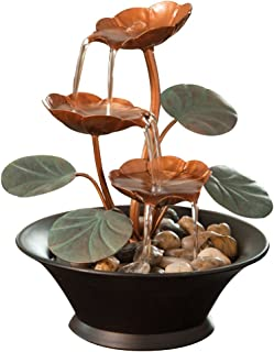 Bits and Pieces – Indoor Water Lily Water Fountain-Small Size Makes This A Perfect..