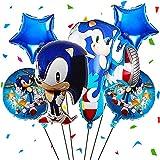 FANDE Sonic The Hedgehog Luftballon, Sonic The Hedgehog Party Dekorationsset, Geburtstagsfeier Dekoration Hedgehog Happy Birthday Decoration Supplies Luftballons