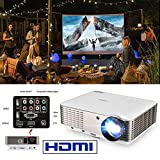 EUG LCD HD Home Theater Projector 1080P 4600 Lumen Digital TV Projector Movies Gaming with HDMI...
