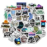 Camping Travel Stickers Wilderness Adventure Outdoor Landscape Waterproof Decal Sticker DIY Laptop Suitcase Motor Car 50Pcs