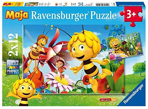 Ravensburger 07594 - L'Ape Maia Puzzle 2x12 Pezzi