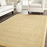 Safavieh Natural Fiber Collection NF443A Tiger Eye Maize and Wheat Sisal Area Rug (8' x 10')