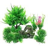 PietyPet Petit Taille Plantes d'aquarium Plastique Décoration et...