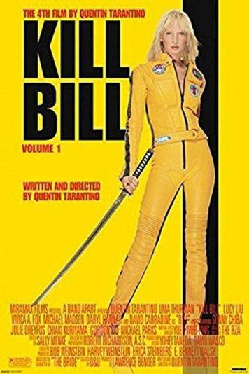 Amazon.com: Pyramid America Kill Bill Volume 1 Uma Thurman Yellow Jumpsuit  Quentin Tarantino Martial Arts Movie Poster 24x36 inch: Posters & Prints