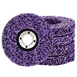 Lamsion Rust Remover Wheel Remove Paint and Oxidation Poly Strip Wheel Disc Abrasive Angle Grinding Wheel (5Pack - 4' x 60#)