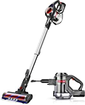 MOOSOO Cordless Vacuum, 4 in 1 Powerful Suction Stick Vacuum Cleaner 1.3L Capacity for..