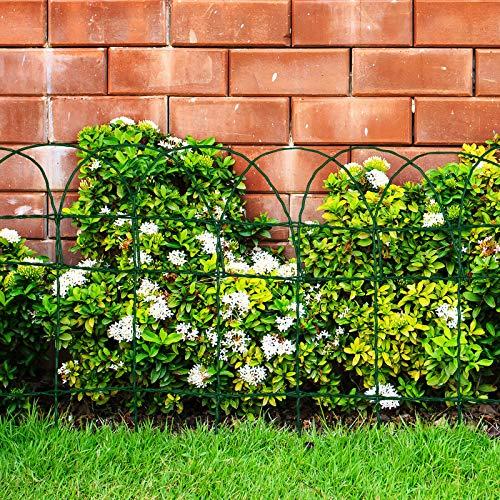 Floordirekt Ziergeflecht | Grün | Maschenweite: 15x9 cm | 4 Größen | Ziergitter für Garten (65 cm x 10 m)