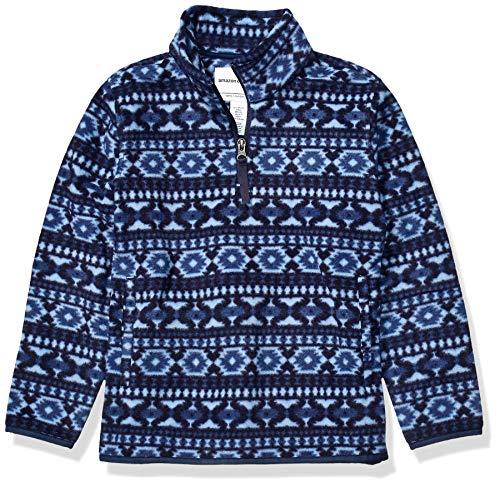 Amazon Essentials Quarter-Zip Polar Fleece Jacket Outerwear-Jackets, Blue Geo, X-Large