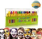 GiBot Pintura Facial y corporales, 16 Colores Pintura Corporal y Facial Body Paint, Maquillaje...