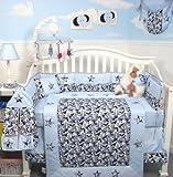 SoHo Baby Crib Bedding 10Pc Set, BlueCamo