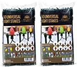 Holiday Joy Universal Light Lawn Stakes for Holiday String Lights on Yards, Driveways & Pathways - 8.5' Tall - New and Improved Model (100 Pack)