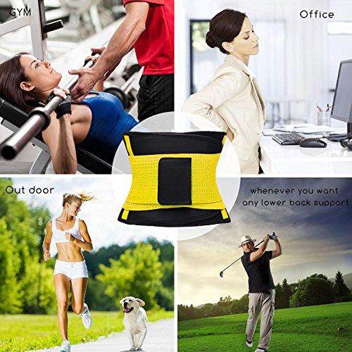 VENUZOR Waist Trainer Belt for Women - Waist Cincher Trimmer - Slimming Body Shaper Belt - Sport Girdle Belt (UP Graded)(Yellow,X-Large 5