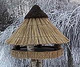 Vogelfutterhaus mit Reetdach Riesen - Heidehütte