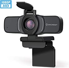 Amcrest 1080P Webcam with Microphone & Privacy Cover, Web Cam USB Camera, Computer HD..
