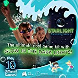 Starlight Swimming Games – The Glow-in-The-Dark Way to Play Classic Pool Games - A Unique Pool Toy Kit - Single Use Version