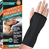 Night Wrist Sleep Support Brace - Fits Both Hands - Cushioned to Help with Carpal Tunnel and Relieve and Treat...