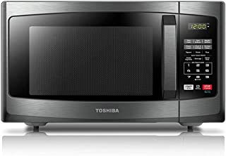 Toshiba EM925A5A-BS Microwave Oven with Sound On/Off ECO Mode and LED Lighting, 0.9 Cu...