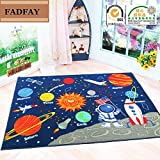 FADFAY Outer Space Kids Rug Cute Kids Room Carpet 39''52''