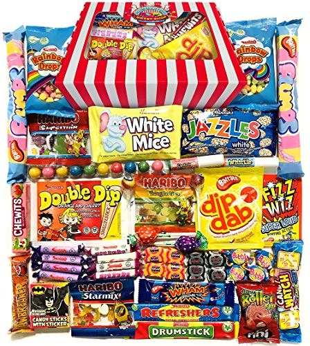 Retro Sweets Gift Box! Candy Striped Sweet Hamper 770g