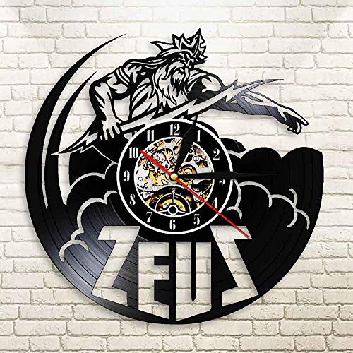 BFMBCHDJ Greek Mythology Zeus Thunder God Art Retro Vinyl Record LED Lighting Thunderbolt History...