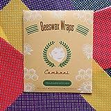 Cambani Emballage Alimentaire à la Cire D'abeille  Paquet de 8  Fait Main en Europe (2 Petit 2 Moyen 2 Grand 2 Extra Grand)